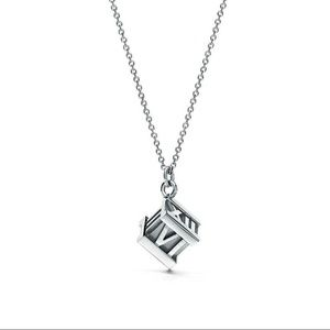 6541bd89eb7fc Tiffany & Co 925 Atlas Roman Numeral cube necklace